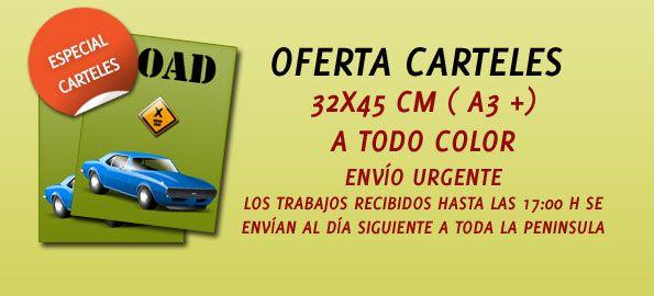 Promoción Carteles A3 +