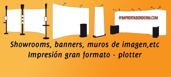 Banners, showrooms, muros de imagen.