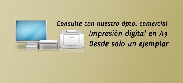 Impresión digital desde 1 ejemplar